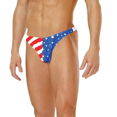Men's stars and stripes thong.